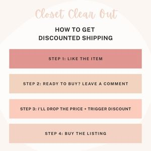 Discounted Shipping with Closet Clear Out!